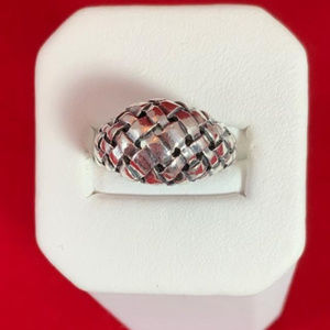James Avery RET Sterling Silver Woven Dome Ring 6